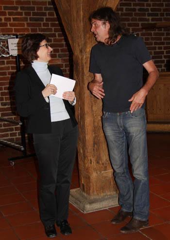 Wenzel mit der Kulturreferentin Agata Kern