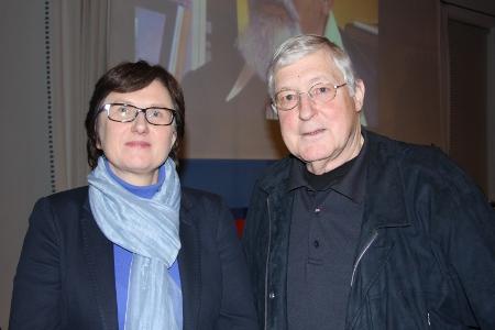 Klaus Bednarz und Agata Kern, die Kulturreferentin des OL