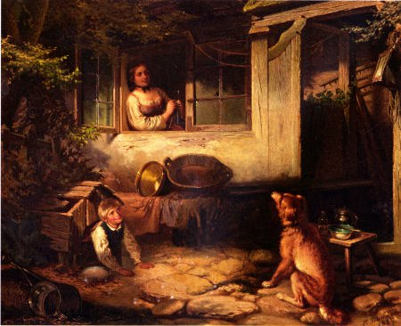 Reinhold Dannehl, Genreszene, Öl, 1865