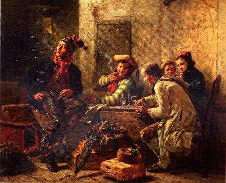 Carl Hübner, Die Auswanderer, Öl, 1862
