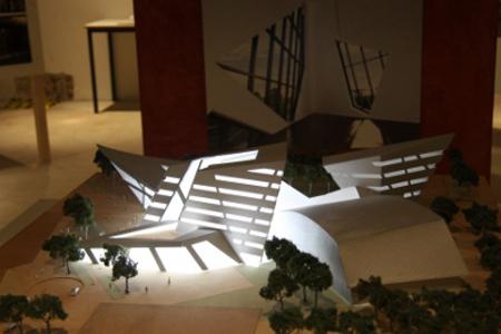 Modell des von Daniel Libeskind geplanten Audimax