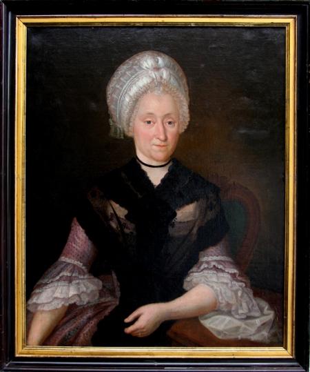 Bildnis Catharina Dorothea Dallmer, Öl, unbekannter Künstler, um 1780