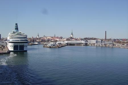 Die Hafenausfahrt von Tallin