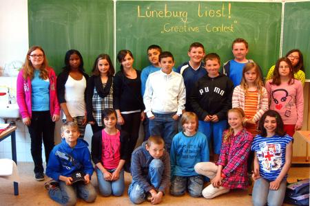Die Klasse 5c der Oberschule Oedeme