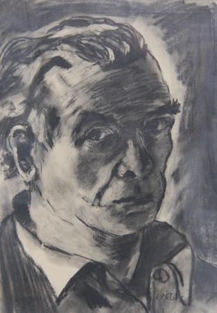 Ernst Mollenhauer, Selbstportrait, 1956