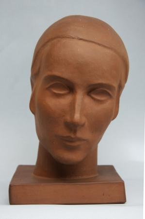 Frauenkopf, Cadiner Keramik, um 1930 - 35