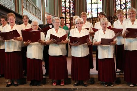 """Der Chor """"Stimme der Heimat aus Lötzen / Giźycko in St. Johannis"""