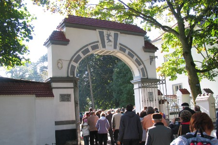 Das ehemalige Eingangstor zum Gestüt