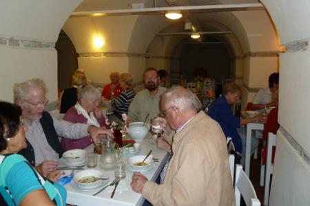 Mittagessen im Kellercafe der Marienkirche