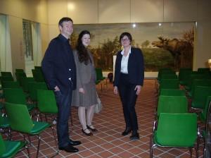 Gestalter Heblik und Wahl mit Projektleiterin Agata Kern