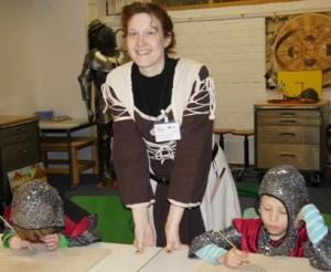 Mit kleinen Rittern das Museum erkunden