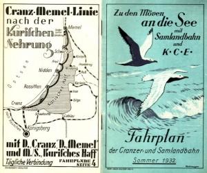 Samland-Bahn und KCE. Die Verkehrsinfrastruktur der Provinz war vielseitig und gut auf den Fremdenverkehr eingestellt.