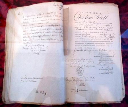 Totenschein für den Kanonier Christian Kroll aus Rastenburg, 1813_