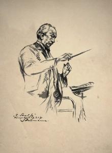 """""""Richard Strauss dirigiert in Königsberg 1927"""" von Ernst Schaumann"""