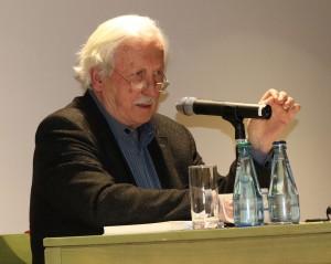 Arno Surminski während der Veranstaltung