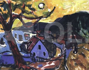 Objekt der Woche #20 – Ein Blick auf Nidden Ernst Mollenhauer, Öl/Leinwand, 1949