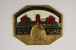 Erinnerungsplakette an die Ostpreußenfahrt des ADAC 1929