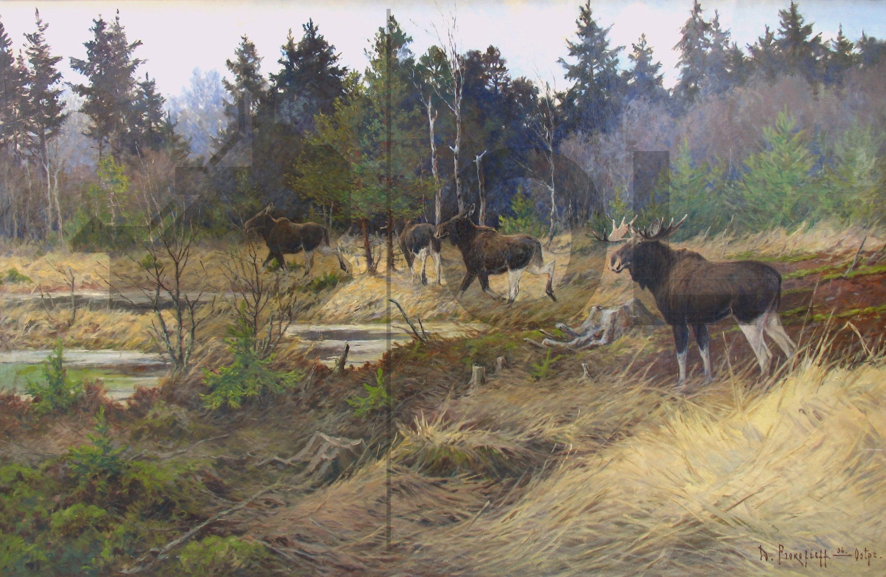 """Objekt der Woche #24 – Gemälde """"Im Elchwald"""""""