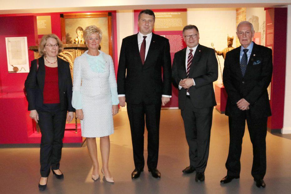 Der Lettische Staatspräsident zu Gast im Museum