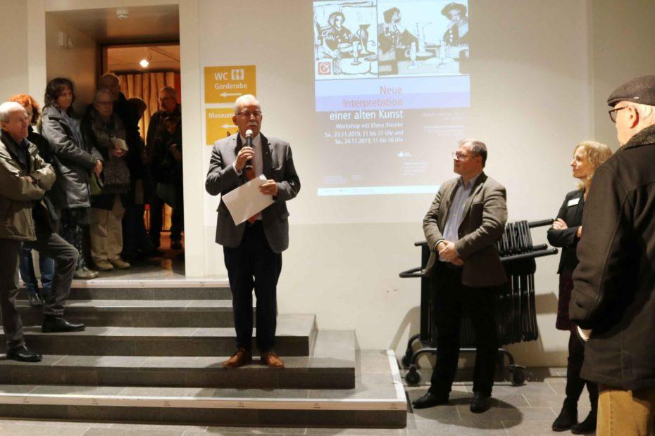 Lüneburger Bürgermeister Eduard Kolle eröffnet den Museumsmarkt 2019.